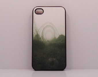 iphone case 6 Iphone 5 iphone 4/4s  Abandon Roller Coaster mobile cell phone cover snap case Vintage art black green