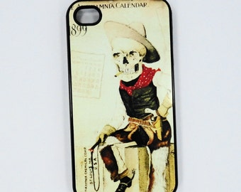 Iphone  6 iphone 5 iphone 4 /4S  trendy Skeleton Cowboy curious case mobile cell Phone case cover cell phone snap case black blue