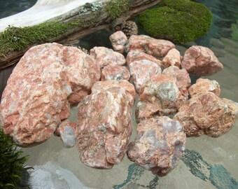 QUARTZ and GRANITE Stones - For Primitive Nature Woodland Displays, Rock Collections, Desktop Zen Meditation Gardens, Aquariums, Terrariums