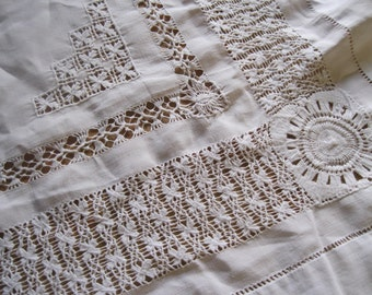 vintage white lace cloth perfect for Christmas
