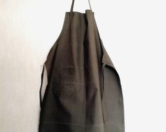 Vintage canvas apron soviet green waxed apron military army apron industrial apron mens canvas apron woodworker's apron workshop apron