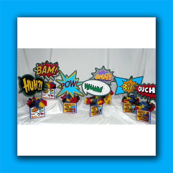 Personalized Superheroes DIY Small Birthday Party