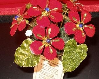 Vintage 70s Sculptured Flowers by Eda