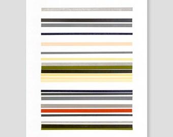 Letterpress Stripes Print (Version D)