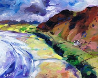Rhossili, The Gower limited edition giclee print. Edition of 100