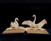 """Photographic Print of Book Sculpture 'Swan Song' 10"""" x 8"""""""