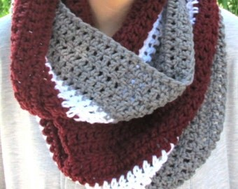 WSU Infinity Scarf, Washington State University Scarf, Neckwarmer