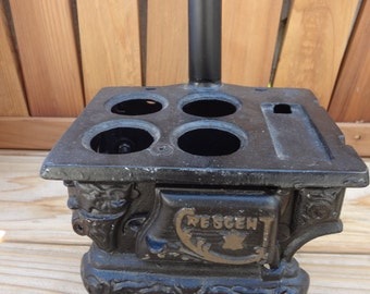 Miniature Cast Iron Stove by Crescent