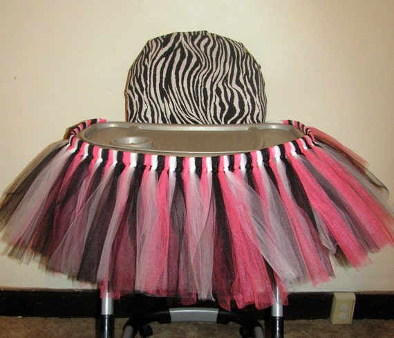 High Chair Tutu Highchair Tutu Skirt Zebra Birthday TEMPORARY