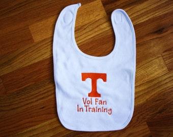 Tennessee Vol Fan in Training Bib