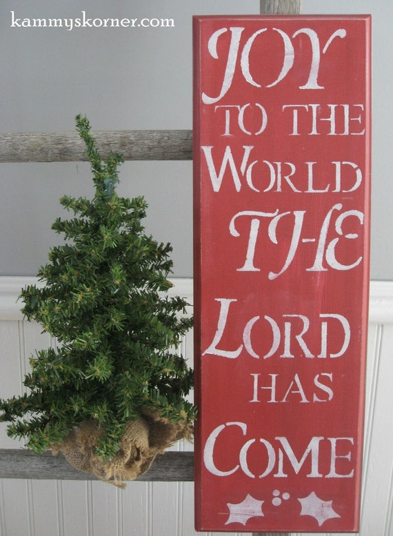 Joy To The World Christmas Plaque