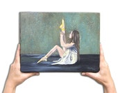 Original wall art oil painting Ballerina 10x13i .Christmas gift for all - OilpaintingsChrista