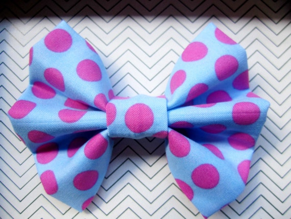 Hair Bow Adorable Polka Dots