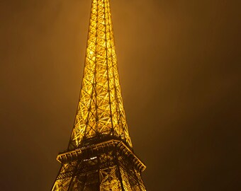 Eiffel Tower, Paris France, French, Paris Photography, Eiffel Tower Photography, Gold Photography, Paris Print, Paris Photo, Paris Fine Art
