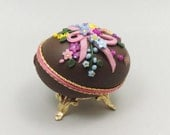 Decorated Chocolate Easter Egg Easter Bouquet Easter Egg Ornament Easter Decoration Faberge Style Decorated Duck Egg Art