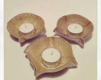 Recycled CD Tea Light Holder. (Set of Three)