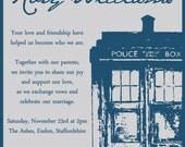 Doctor Who Wedding Invitation