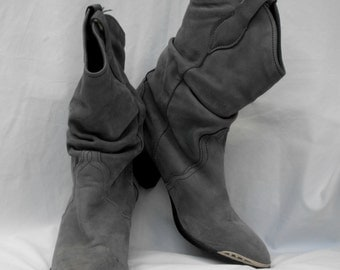 80's Style Slouch Cowboy Boots Cowgirl Boots Size 6 M