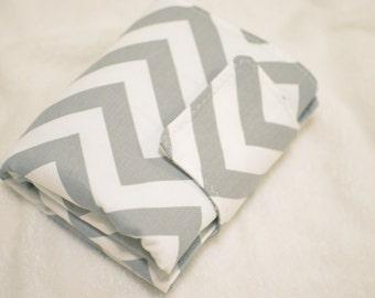Portable Diaper Changing Pad-Chevron Grey-