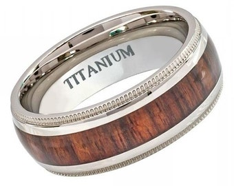 "Titanium Wedding Band, "" FREE ENGRAVING "" , Titanium engagement ring, Titanium Men's Ring, Ring For men, MMTi447"