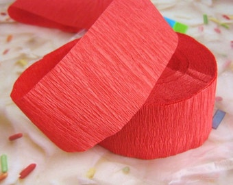 Crepe Paper Streamer Red 81 foot x 1.75 inch Party Supply Birthday Shower Decor