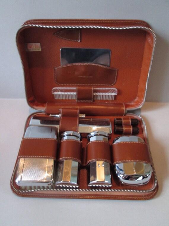 vintage edwardian gentlemans travel grooming shaving kit. Black Bedroom Furniture Sets. Home Design Ideas