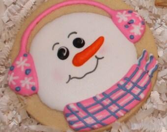 Snowmen Cookies, Christmas Cookies, Snowman Cookies, Holiday Cookies, Winter Cookies, Cookie Favors, Teacher Gifts
