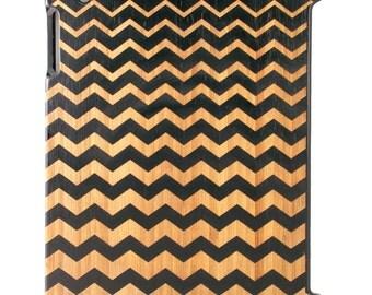 Charred Bamboo iPad 2,3,4 case, Progressive Chevrons design UK