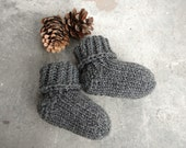 Baby socks from wool and cashmere, choose size newborn, 2-6 month, 6-12 month, choose color and finishing