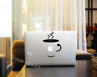 Coffee Decal Macbook Air Sticker Macbook Air Decal Macbook Pro Decal 43713