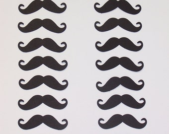 Paper MUSTACHE die cuts  50 pc. set / black or white/ party/ wedding