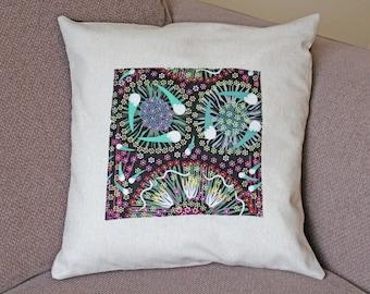 Aboriginal design  throw cushion accent pillow cover 18x18 inch Home decor
