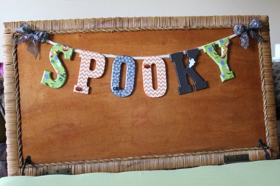 Items similar to On sale - Spooky Banner, Halloween Decor ...