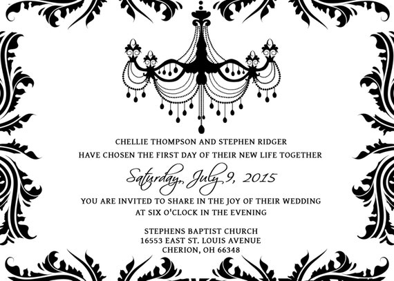 Gothic Wedding Invites for awesome invitations template