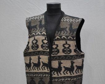 Vintage HANDMADE PRINTED VEST with tribal pattern ....(108)