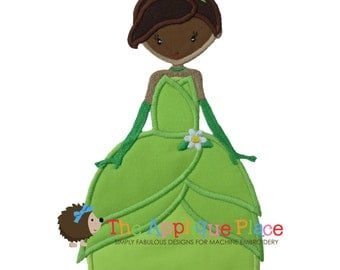 Pretty Princess 12 as the princess and the frog Machine Embroidery Applique Design