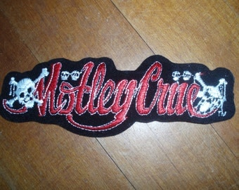 Motley Crue - Patch - Vince Neil - Tommy Lee - Collectible