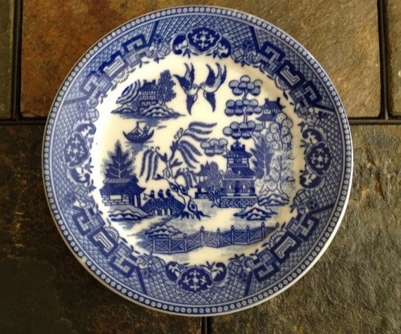 Vintage Blue And White Japanese Plate