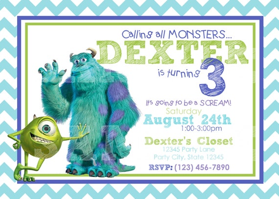 Monster Inc Invites was perfect invitations example