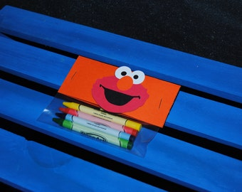 Elmo Crayon Favor