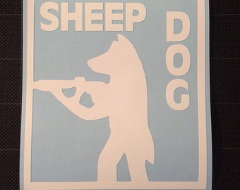 Sheep Dog Vinyl Decal Sticker Police Military K9 FREE SHIPPING