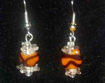 Orange Halloween Candy Earrings