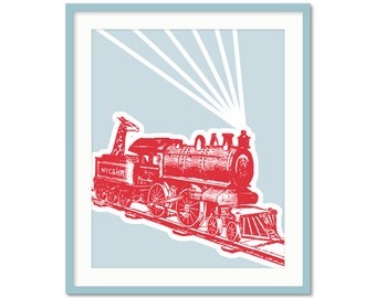 Transportation Prints, Train Nursery Art, Baby Boy Decor, Boys Nursery, Train Bedroom, Transportion Series, Boys Wall Art, Toddler Art