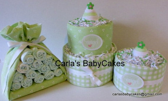 Baby diaper cake stork bundle mini diaper cake baby shower for Baby shower decoration singapore