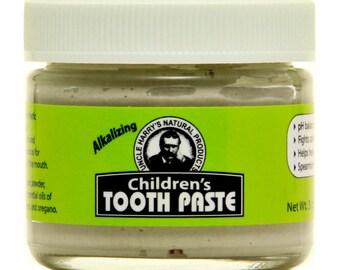 Children's Tooth Paste  (3 oz glass jar)