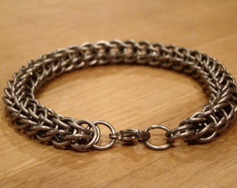 Titanium Chainmail Bracelet in Persian Weave - Customizable
