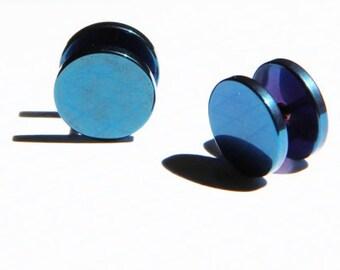 Deep blue fake plug  from 14mm