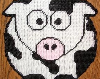Cute Cow Plastic Canvas Pattern