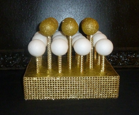 cake pop stand gold foil cake pop stand lollipop holder rustic shabby 2295