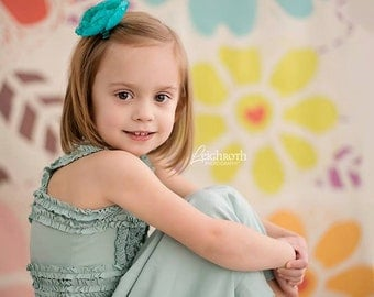 4ft x 4ft Cheery Floral Backdrop for Photo Session - Colorful Photography Backdrop for All Occasion - Item 316